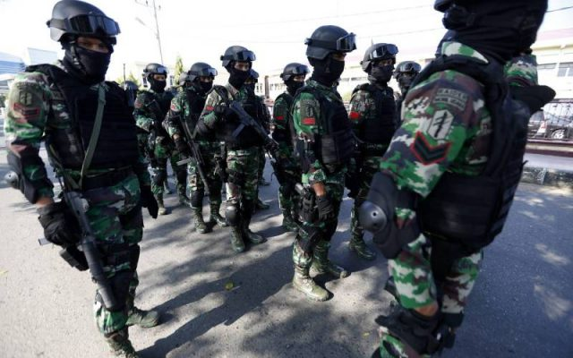 An Indonesian counterterror squad participates in a drill earlier this year. Indonesia is concerned that the country could see a resurgence of a terrorism problem that peaked with major bombings on the resort island of Bali over a decade ago. Photo: European Pressphoto Agency